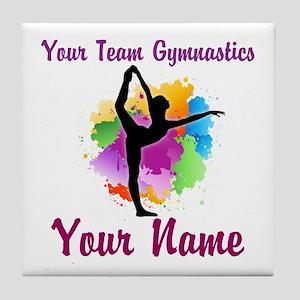 Customizable Gymnastics Team Tile Coaster