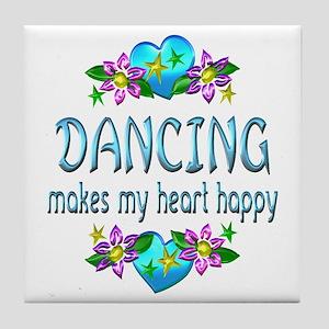 Dancing Heart Happy Tile Coaster