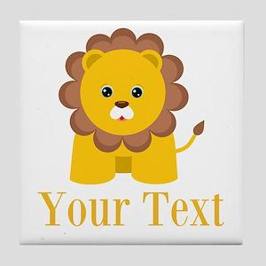 Personalizable Little Lion Tile Coaster