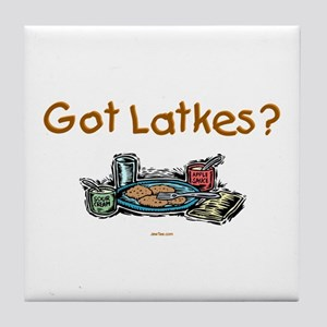 Got Latkes Chanukah Tile Coaster