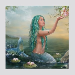 Marine Mermaid Tile Coaster