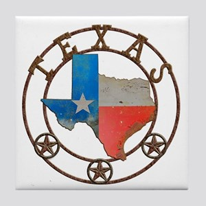 Texas Wrought Iron Barn Art Tile Coaster