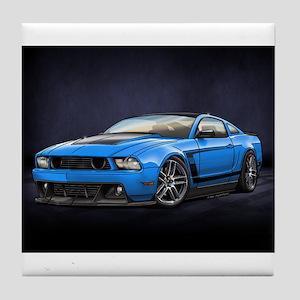 Boss 302 Grabber Blue Tile Coaster