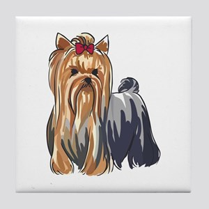 YORKSHIRE TERRIERS Tile Coaster