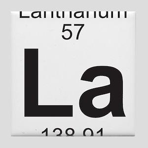 Element 057 - La (lanthanum) - Full Tile Coaster
