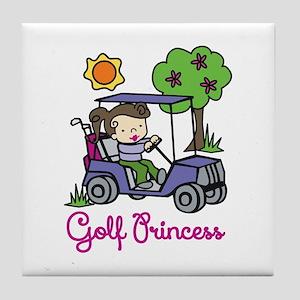 Golf Princess Tile Coaster
