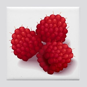 Raspberries Tile Coaster