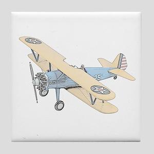 Stearman PT-17 Bi-Plane Tile Coaster