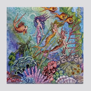 Mermaid Shower! Tile Coaster