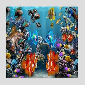 Under the Sea Tile Coaster