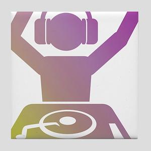 Colorful DJ Tile Coaster