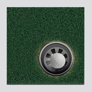 Golf Cup and Ball Tile Coaster