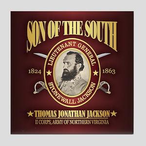 Stonewall Jackson Tile Coaster