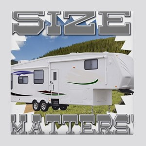 Size Matters Fifth Wheel Tile Coaster
