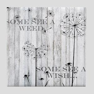 Dandelion Wish Tile Coaster