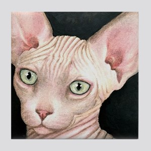 Cat 412 sphynx Tile Coaster