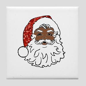 black santa claus Tile Coaster
