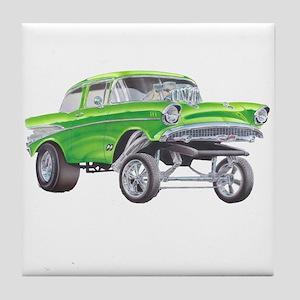 57 Green Gasser  Tile Coaster