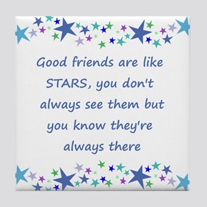 Good Friends are like Stars Inspirational Quote Ti