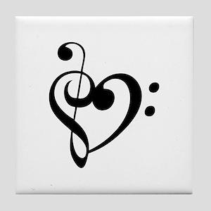 Treble Heart Tile Coaster