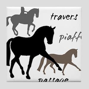 Dressage Movements Trio Tile Coaster