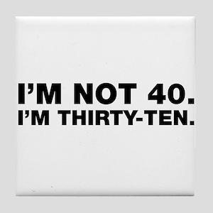40th birthday Tile Coaster