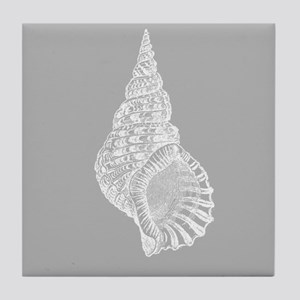 Grey Conch shell Tile Coaster