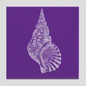 Purple Conch shell Tile Coaster