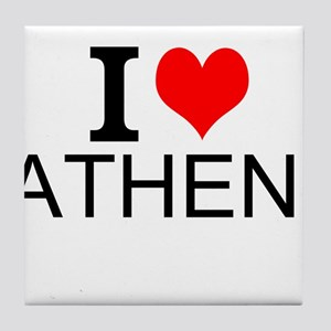 I Love Athens Tile Coaster