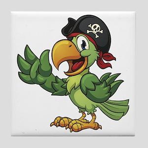 Pirate-Parrot Tile Coaster