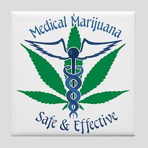 Medical Marijuana Safe & Effective Tile Coaster