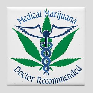 Medicla Marijuana Doctor Recommended Tile Coaster