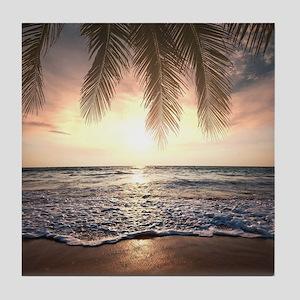 Tropical Beach Tile Coaster