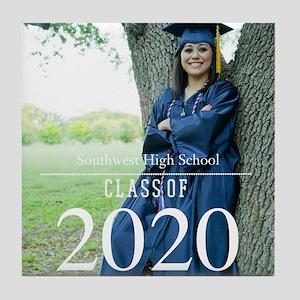 Custom Graduation Photo Class of 2017 Tile Coaster