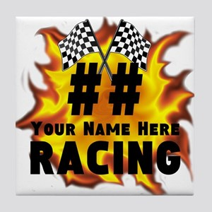Flaming Racing Tile Coaster