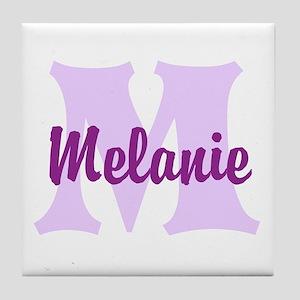 CUSTOM Lilac Purple Monogram Tile Coaster