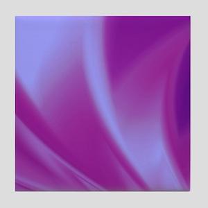 Veils of Purple Fractal Tile Coaster