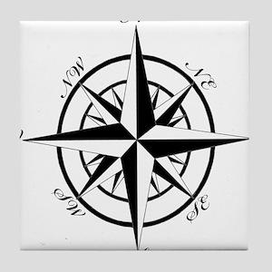 Vintage Compass Tile Coaster