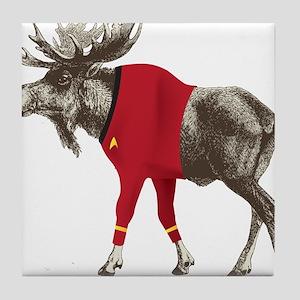 Moose Red Shirt Tile Coaster