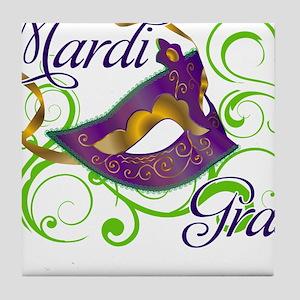 MardiGras Tile Coaster