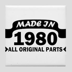 made in 1980 born Tile Coaster