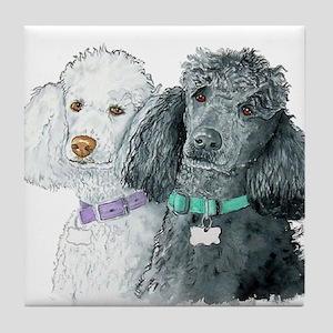 Two Poodles Tile Coaster