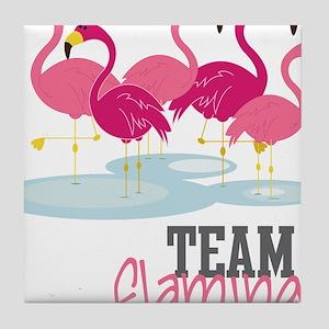 Team Flamingo Tile Coaster