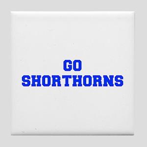 Shorthorns-Fre blue Tile Coaster