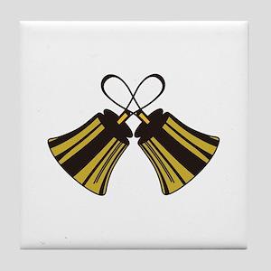 Crossed Handbells Tile Coaster