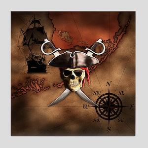 Pirate Map Tile Coaster