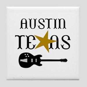 AUSTIN TEXAS MUSIC Tile Coaster