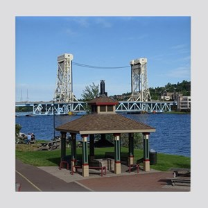 Portage Lake Bridge Tile Coaster