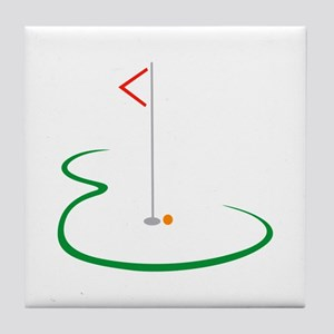 Golf Green Tile Coaster
