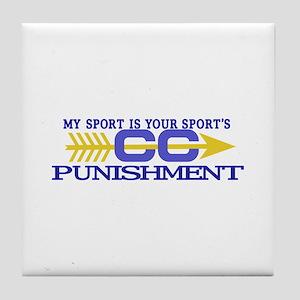 My Sport/Punishment Tile Coaster